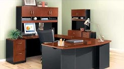 Bow Front L-Shaped Desk | Sauder Via Collection | National Business Furniture