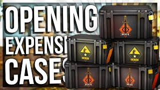 OPENING THE MOST EXPENSIVE CS:GO CASES EVER (BRAVO, WEAPON CASE & ESPORT 2013)