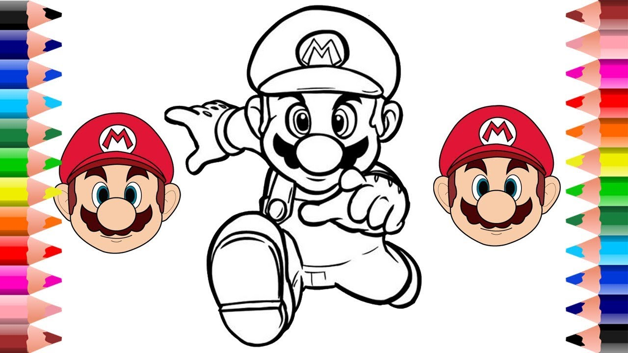 Super Mario Run Coloring Pages For Kids Mario Coloring Pages Youtube