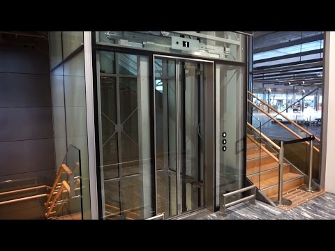 2017 KONE MonoSpace MRL traction elevator @ Oslo Gardermoen Airport (OSL), Norway