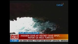 Hidden cove at secret dive spot, patok sa mga turista