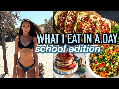 WHAT I EAT IN A DAY // School Edition! (vlog)