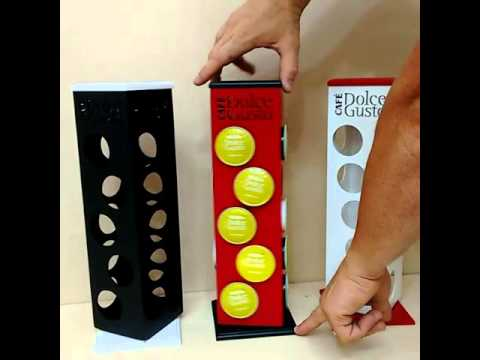 Torre suporte dolce gusto mdf 20 capsulas youtube - Porta capsule nescafe ...