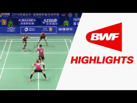 TOTAL BWF Thomas & Uber Cup Finals 2016 | Badminton Day 3/S1-Uber Cup Grp A-DEN vs MAL-Highlights