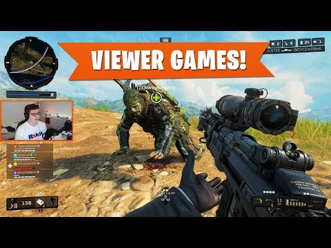VIEWER GAMES! | Black Ops 4 Blackout | PS4 Pro
