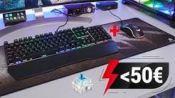 Mechanische RGB Tastatur + Maus für 48€?! (GAMING SET REVIEW)