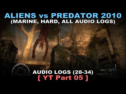 Aliens vs Predator 2010 - Marine walkthrough 05 ( All Diarie
