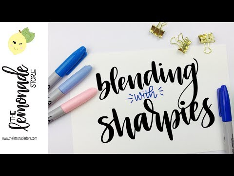 How to Blend with Sharpie Markers