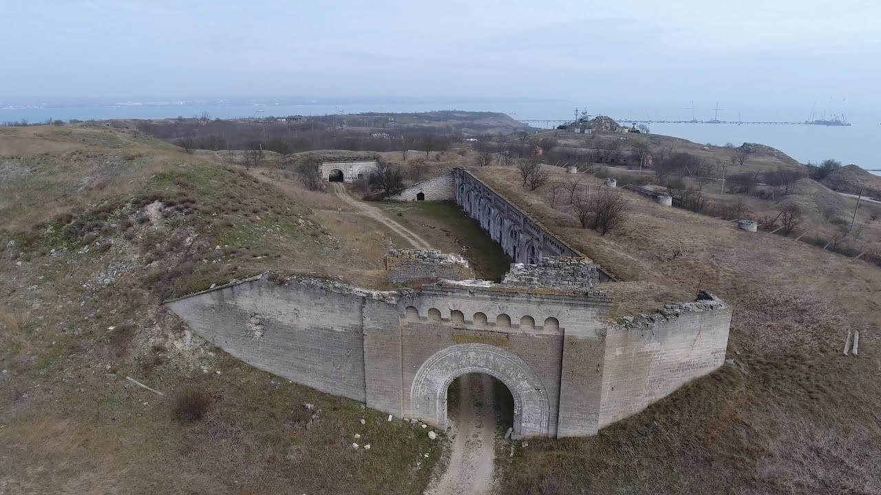 Крымъ 4К: Крѣпость Керчь и ея фортъ Тотлебенъ - YouTube