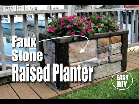 how-to-make-a-stone-veneer-raised-planter-easy-diy-project