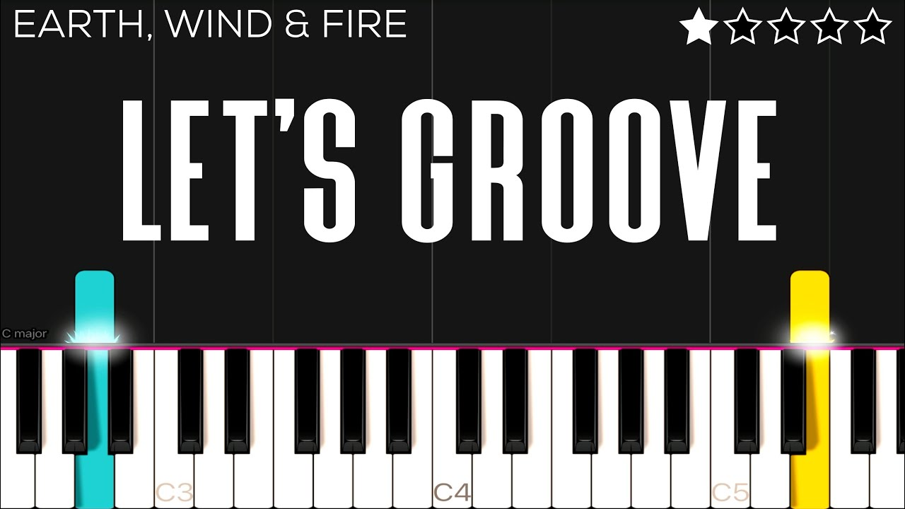 Earth, Wind & Fire - Let's Groove | EASY Piano Tutorial