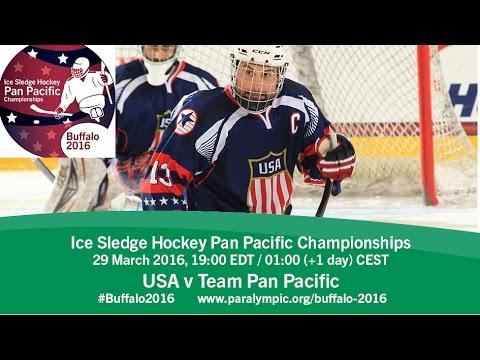 USA v Team Pan Pacific | Prelim | 2016 Ice Sledge Hockey Pan Pacific Championships, Buffalo