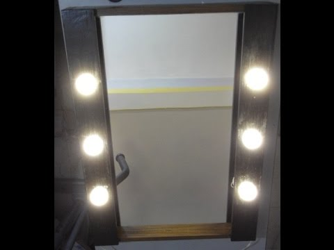 Diy espejo tocador con luces vanity mirror with lights for Espejo tipo camerino