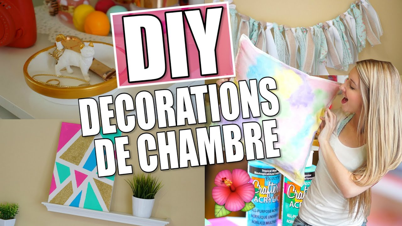 diy d corations de printemps pour ta chambre youtube. Black Bedroom Furniture Sets. Home Design Ideas