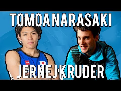 Tomoa Narasaki VS Jernej Kruder - IFSC Climbing World Cup Moscow 2018 - Climbing Comparison
