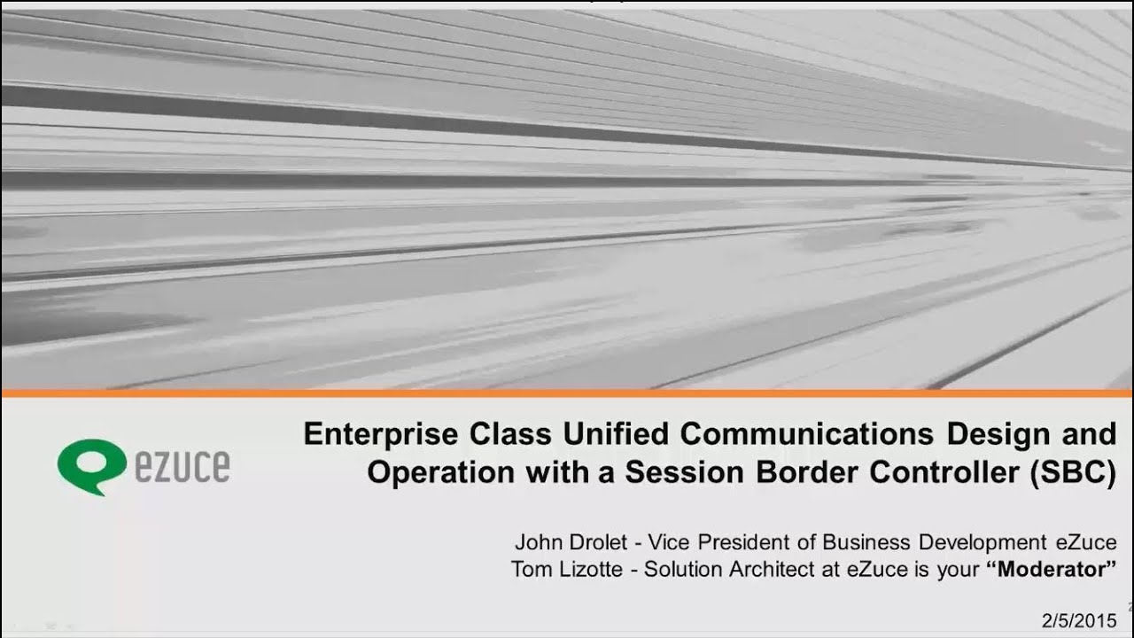 UC Design and Operation with Sangoma SBC