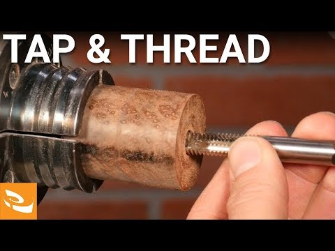 Threading Wood and Acrylics (Woodturning How-to)
