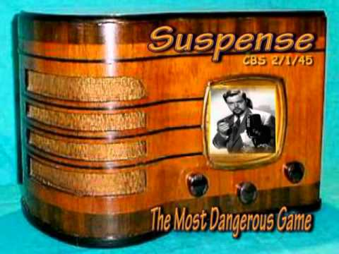"Suspense  ""The Most Dangerous Game"" Orson Welles CBS 2/1/45 Radio Mystery Drama"