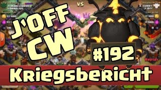 J'OFF Kriegsbericht [Clanwar #192] Clash of Clans - 3 Star Angriffe
