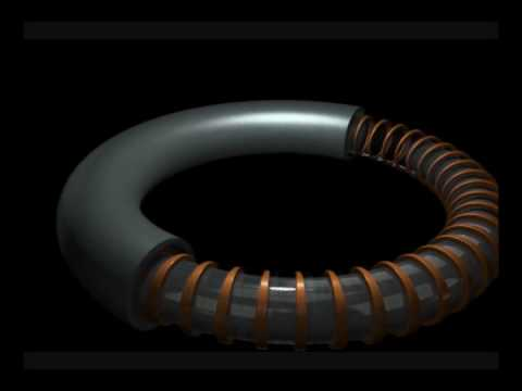 Helmholtz Torus UFO Technology Ferrofluid Rotor