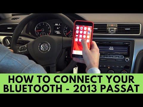 2013 Volkswagen Passat: How to Connect Bluetooth
