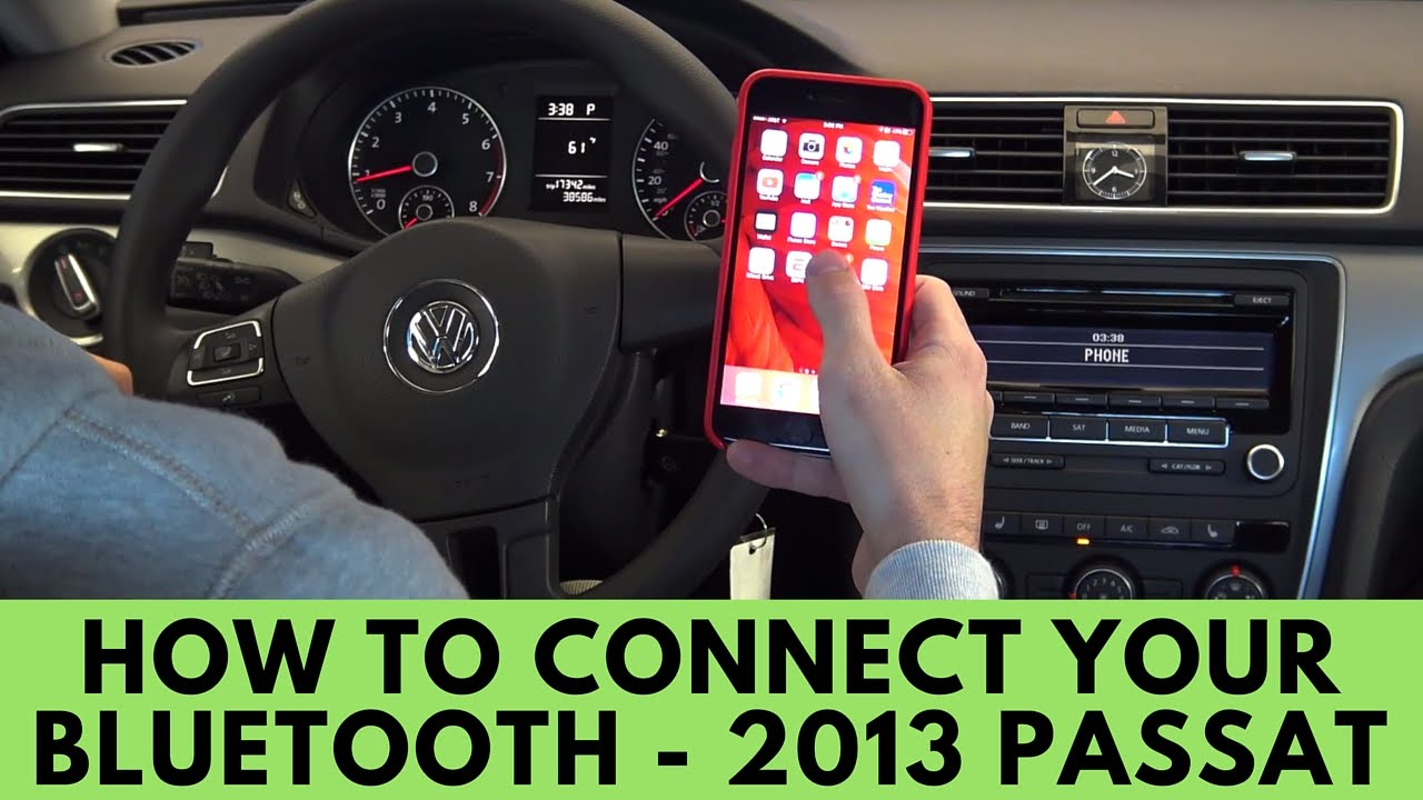 2013 vw passat: how to connect bluetooth - youtube