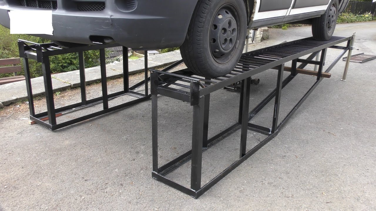 Heavy Duty DIY Car Ramps YouTube - Car show display stand for sale