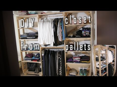 "How to make a closet out of ""pallets"" - DIY"