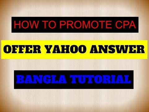 How To Promote CPA Offer In Yahoo Answer