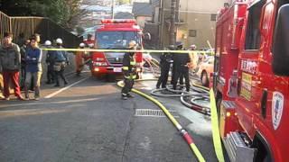 many fire car 多数の消防車が出動