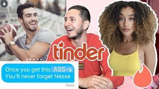 Hijacking a Hot Girl's TINDER (ft. Nezza) SUGAR DADDY PAYS FOR A DATE!!