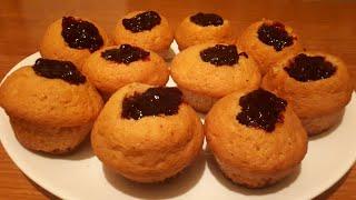 Очень вкусные и бюджетные кексы с вареньем☆Чайхана☆Рецепты