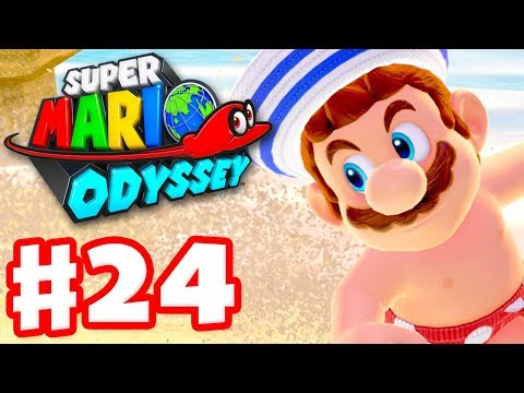 Super Mario Odyssey - Gameplay Walkthrough Part 24 - Topless at the Beach! (Nintendo Switch)