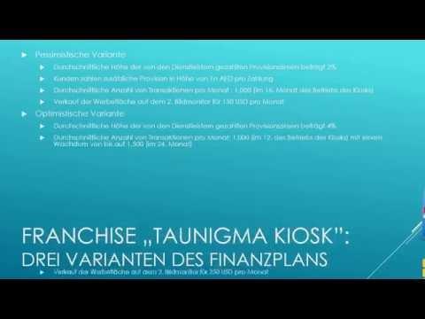 """TauNigma Deutschland - Businessplan des Franchise """"Kiosk"""" (voll)"""