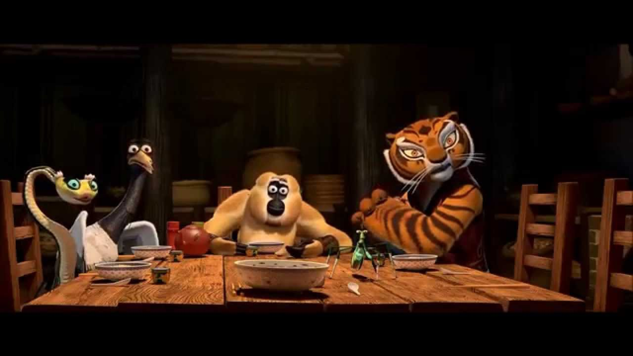 kung fu panda 1 food comedy scene - YouTube
