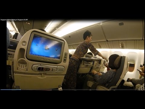 Singapore Airlines (PEK-SIN) Beijing to Singapore SQ 801 Economy