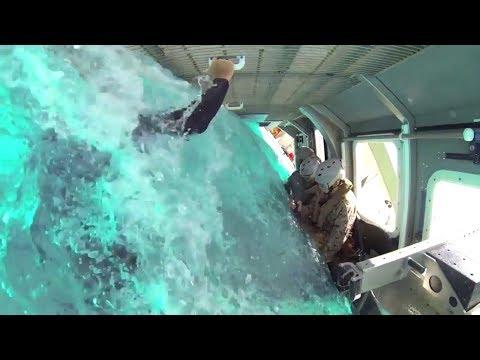 STRESSFUL! US Marine Helicopter Crashing in Sea While BLINDFOLDED Training