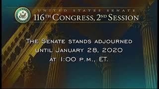 Continúa la segunda semana del juicio político al presidente Trump en el Senado.