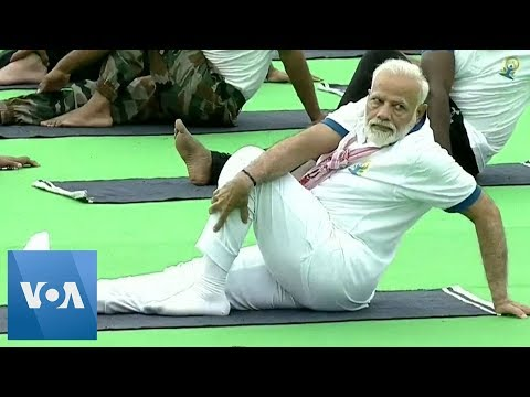 India Prime Minister Modi Leads the Way On International Yoga Day