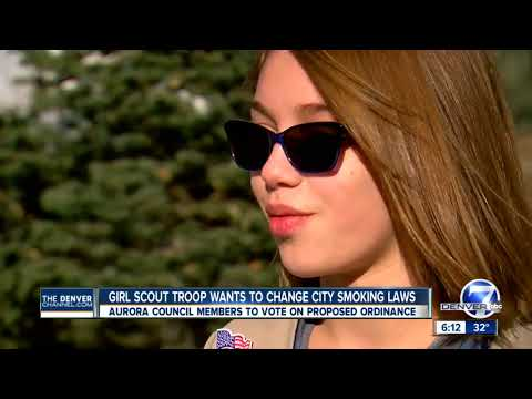 Girl Scouts hope to change Aurora smoking laws; city council votes on proposed ordinance