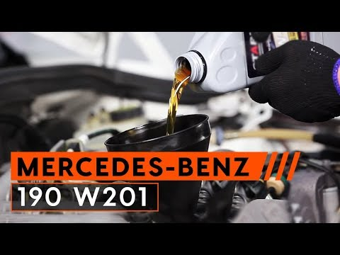 How to replace Engine Oil and Oil filteronMERCEDES-BENZ 190 W201TUTORIAL | AUTODOC