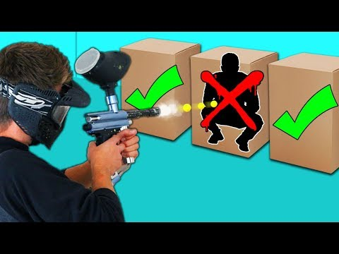 DONT Shoot the Person in the Mystery Box Challenge!! (Paintball Edition)