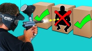 DONT Shoot The Person In The Mystery Box Challenge Paintball Edition