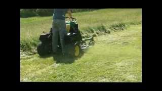 John Deere 667A Stander/Surf type commercial zero turn lawn mower cutting through 2' HIGH grass! 3D