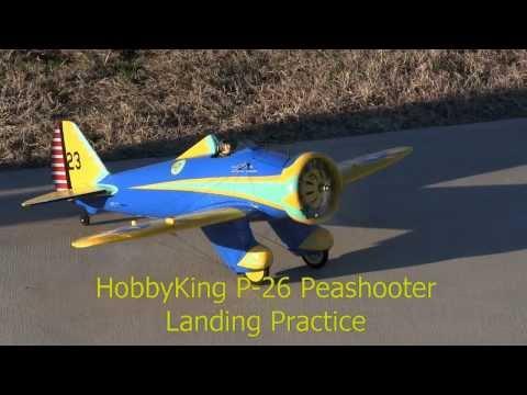 HobbyKing Boeing P-26 Peashooter Landing Practice