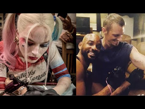 Harley Quinn And The Suicide Squad Get Skwad Tattoos Youtube