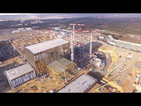 Flyover the ITER worksite - January 2017