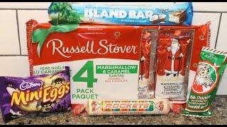 Russell Stover Caramel, Cadbury Mini Eggs, Island Bars, Ganong Chocolate & Rockets Review