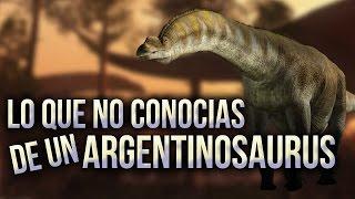Lo que no conocías de un Argentinosaurus