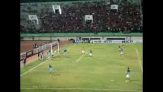 Indonesia vs Filipina, Stadion Manahan 14 Agustus 2013 (Latihan dan Lagu Indonesia Raya)